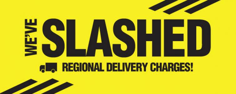 We've just SLASHED standard delivery and heavy item charges!