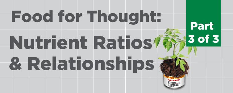 [Food For Thought] Nutrient Ratios & Relationships (Part 3 of 3)