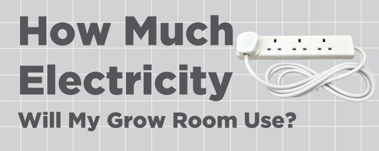 How much electricity will my Grow Room use?