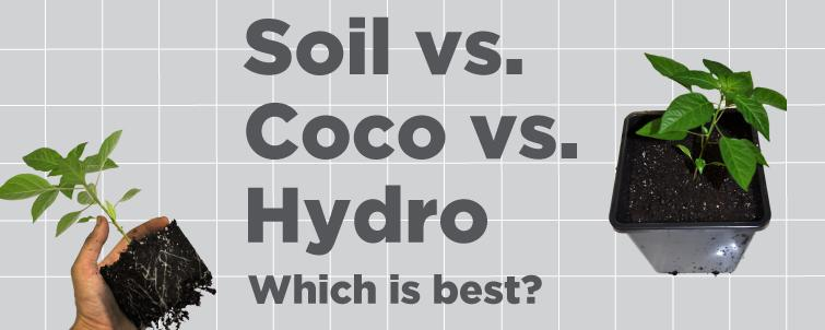 Soil Vs. Coco Vs. Hydro…Which Is Best?