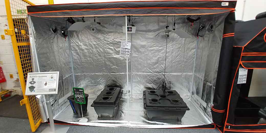3.6m x 2.4m  x 2.4m BAY6 Tent with NEW 9-Pot RhizoSystem