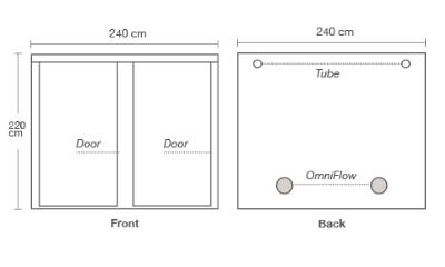 HOMEbox R240+ Dimensions